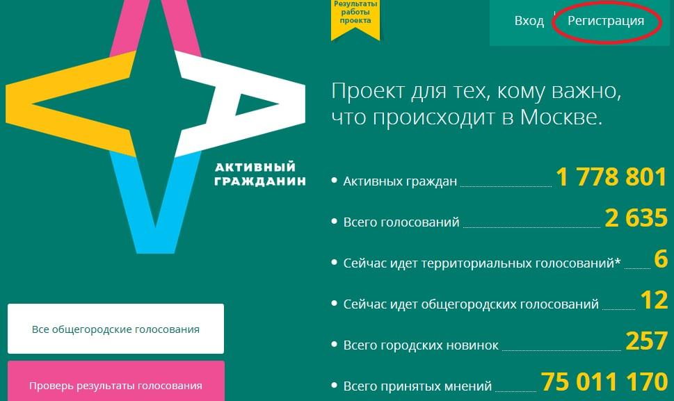 Активный гражданин официальный сайт голосование за снос пятиэтажек