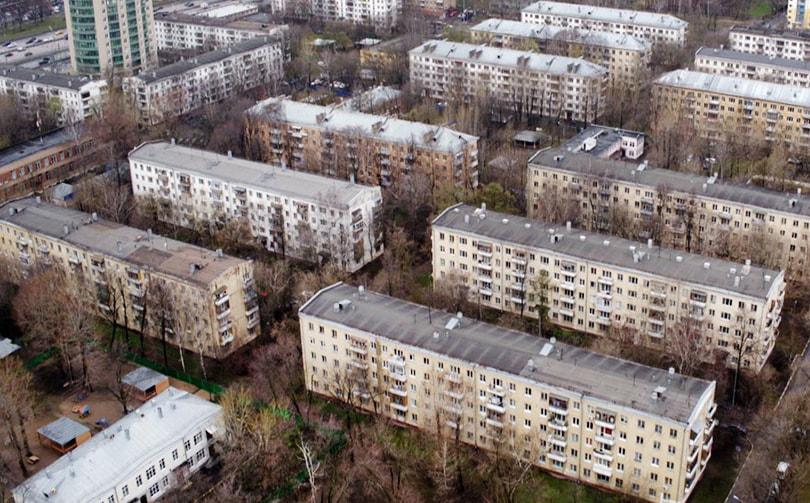 старые пятиэтажные дома в москве