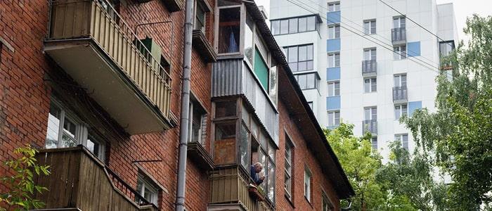 пятиэтажный дом под снос в Москве
